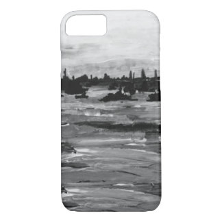 Lake Erie Islands Black and White Painting iPhone 7 Case