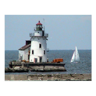 Lake Erie Lighthouse Summer Postcard