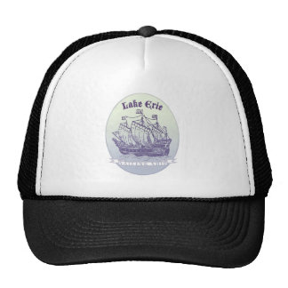 Lake Erie Sailing Ship Cap