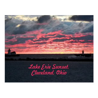 Lake Erie Sunset (Cleveland) Postcard