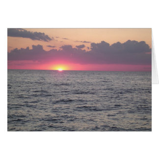 Lake Erie Sunset - Euclid, Ohio Card
