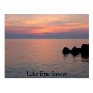 Lake Erie Sunset Postcard