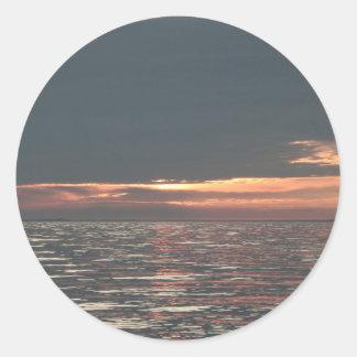 Lake Erie Sunset Round Sticker