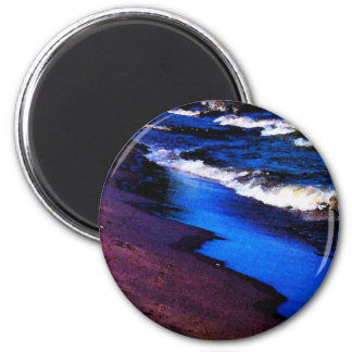 Lake Erie Watercolor 6 Cm Round Magnet