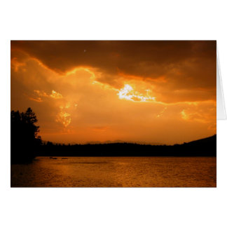 Lake Five Sunset Card