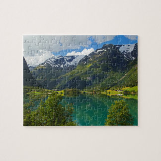 Lake Floen scenic, Norway Jigsaw Puzzle