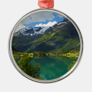 Lake Floen scenic, Norway Metal Ornament