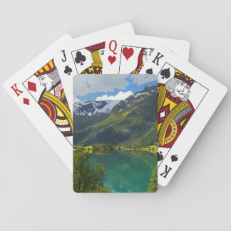 Lake Floen scenic, Norway Playing Cards