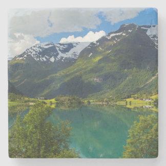 Lake Floen scenic, Norway Stone Coaster