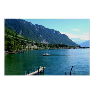 Lake Geneva in summer Poster
