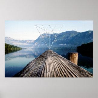 Lake & Geometry Poster