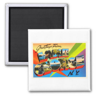 Lake George New York NY Vintage Travel Souvenir Magnet