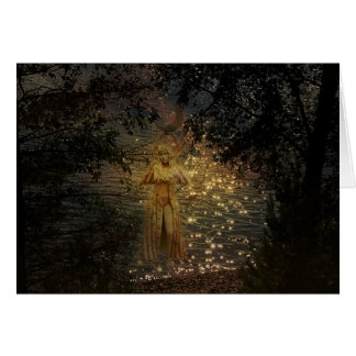 Lake Goddess Pagan Greeting Card