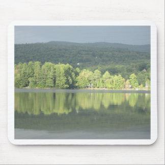 Lake Green Trees Reflection Mouse Pad