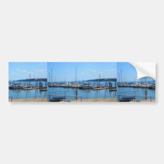 Lake Harbour SailBoats Lake view of Boston City Bumper Sticker