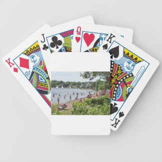 Lake Harriet Shoreline and Band Shell Bicycle Playing Cards