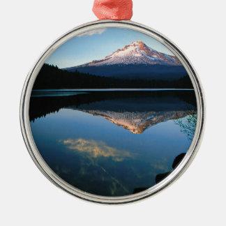 Lake Hood From Trillium Oregon Ornaments