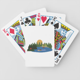 Lake House Bicycle Playing Cards