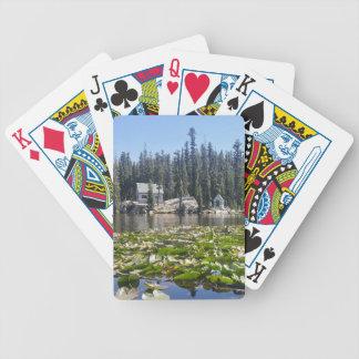 lake house bicycle playing cards