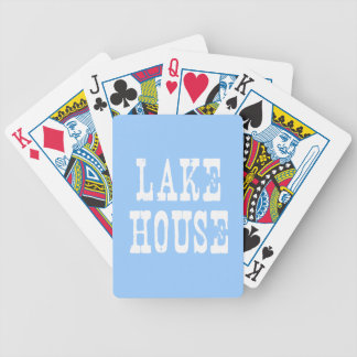 Lake House Blue Bicycle Playing Cards