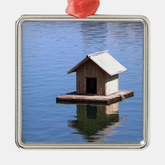 Lake house metal ornament