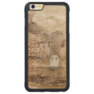 Lake House woodgrain pond wild duck Carved Maple iPhone 6 Plus Bumper Case