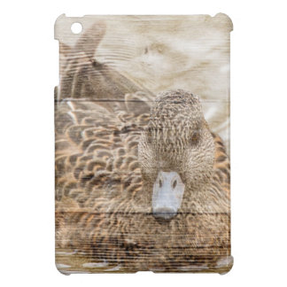 Lake House woodgrain pond wild duck Cover For The iPad Mini