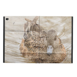 Lake House woodgrain pond wild duck Powis iPad Air 2 Case