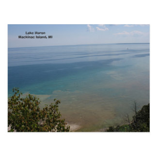 Lake Huron at Mackinac Island, MI Postcard