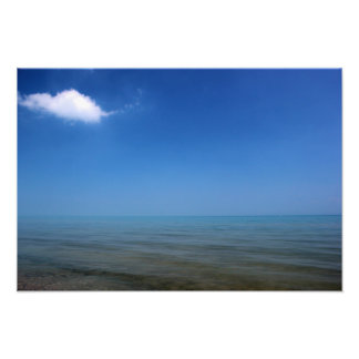 Lake Huron with One Cloud Photo Print