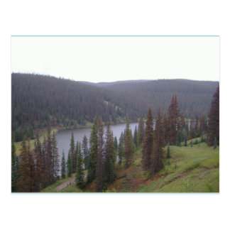 Lake In CO Mountain Tops Postcard