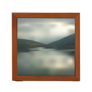 Lake in the mountains desk organiser