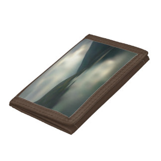 Lake in the mountains trifold wallet