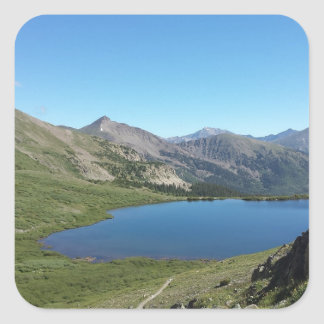 Lake in the Rocky Mountains Square Sticker
