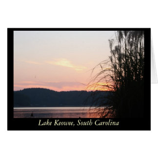 Lake Keowee Sunset Skyline Card