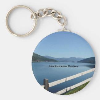 Lake Koocanusa Northwest Montana Basic Round Button Key Ring