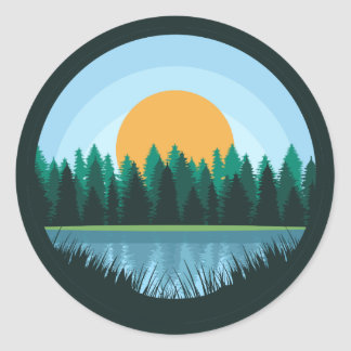 Lake Landscape sticker