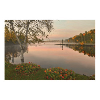 Lake landscape wood print