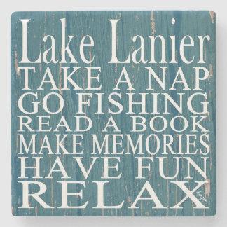Lake Lanier, Georgia, Quote Coasters Cyan