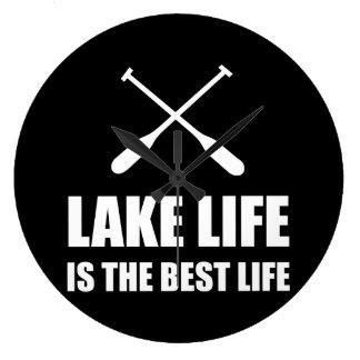 Lake Life Best Life Large Clock