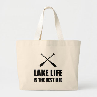 Lake Life Best Life Large Tote Bag