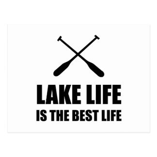 Lake Life Best Life Postcard