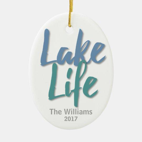 Lake Life Ceramic Oval Decoration