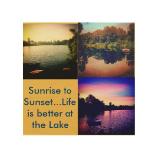 Lake Life is Better Wood Canvases