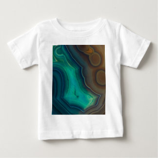 Lake Like Teal & Brown Agate Baby T-Shirt