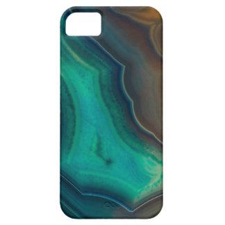 Lake Like Teal & Brown Agate iPhone 5 Case