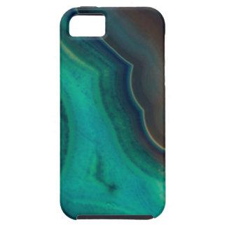 Lake Like Teal & Brown Agate iPhone 5 Cases