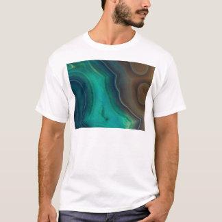 Lake Like Teal & Brown Agate T-Shirt