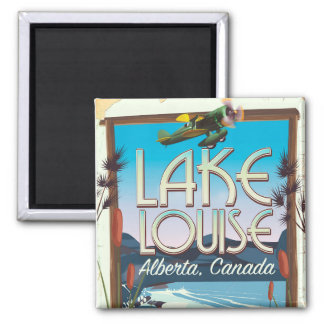 Lake Louise, Alberta Canada travel poster Magnet