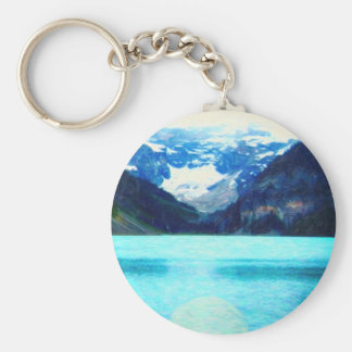 Lake Louise Canadian Rockies art Key Ring